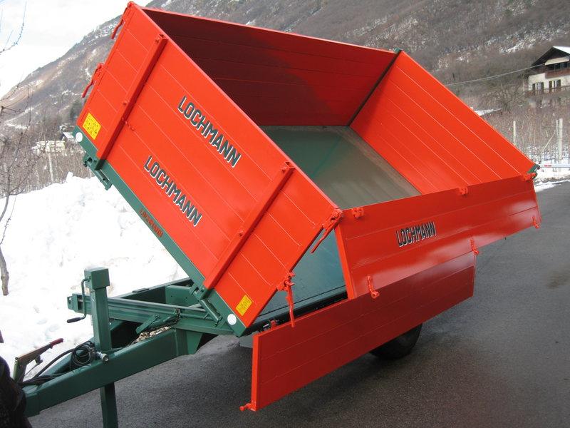 Lochmann Anhänger mit hydraulischem Dreiseitenkipper